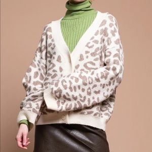 Moon River Snow Leopard Cardigan